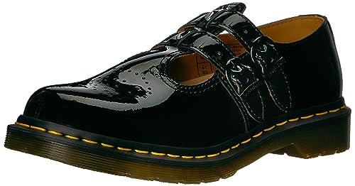 af7da166569 Dr. Martens Women's 8065 Black Patent Lamper Mary Janes