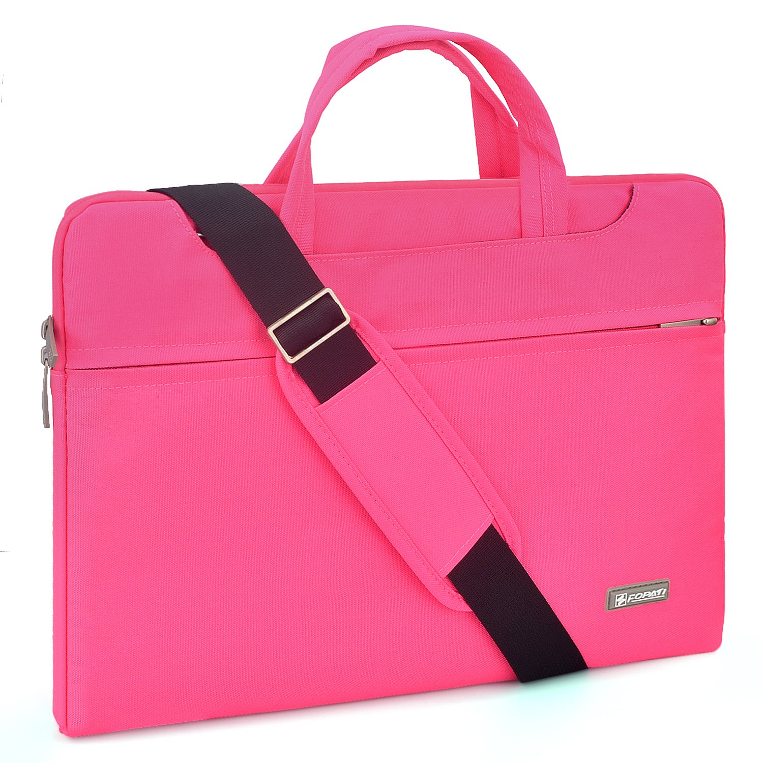 11-11.6 inch Laptop Case, Waterproof Computer Bag Business Carrying Sleeve Case Notebook Shoulder Messenger Bag For Macbook Air 11/Surface Pro 4 3/HP ASUS Dell Acer Samsung 11'' Tablet - Pink