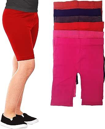 Girls -Little Girls & Youth 6 Pack Cotton Stretch 8 inch Under Dress/Slip Shorts/Bike Short/Capri Leggings