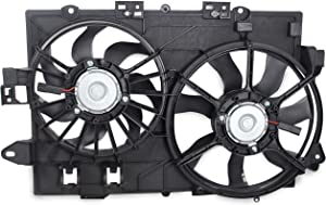 BOXI Dual Radiator Cooling Fan Assembly for 2006 2007 2008 Chevy Equinox Pontiac Torrent 19129813