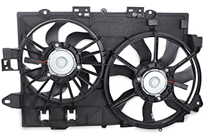 BOXI Dual Radiator Cooling Fan Assembly for 2006-2008 Chevy Equinox Pontiac Torrent 19129813