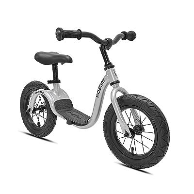 "KaZAM Alloy No Pedal Balance Bike, Metallic Silver, 12"": Sports & Outdoors"