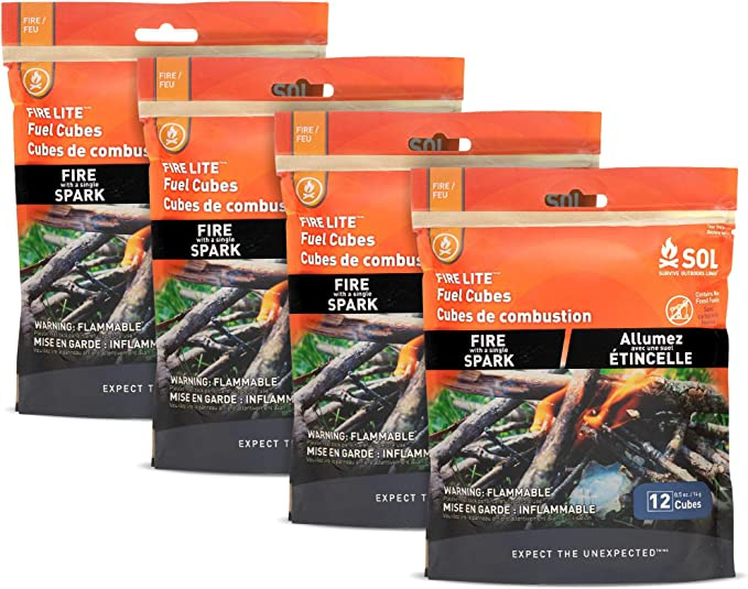 S.O.L and Striker 6-count Survive Outdoors Longer All-Weather Fire Cubes Fire Starters