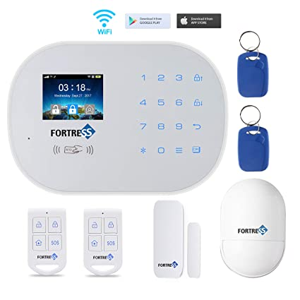 Wi-Fi 3G/4G GSM Security Alarm System- S6 Titan Starter Kit Wireless DIY Home and Business Security System Kit by Fortress Security Store- Easy to ...