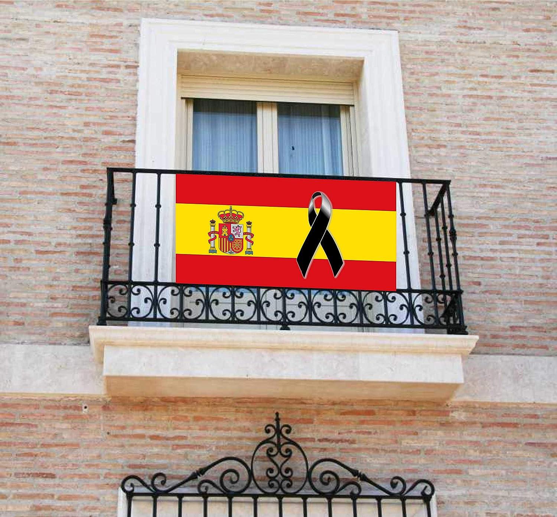Pancarta, Bandera con lazo negro, crespón, [120x60cm] lona para ...