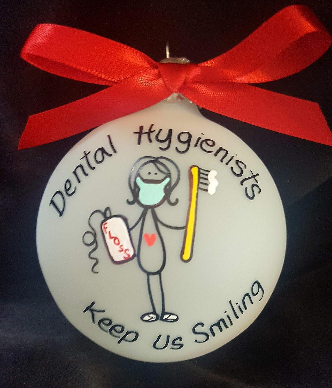 Flowershave357 Custom Christmas Ornament Dental Hygienists Christmas Tree Decor for Dentist