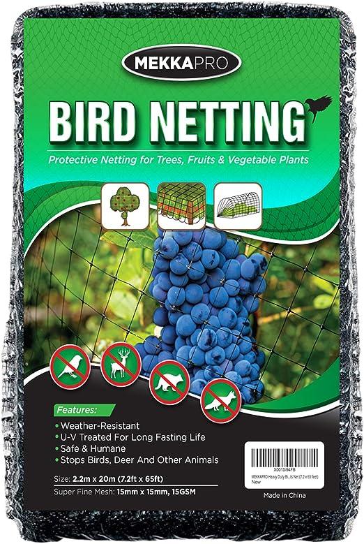 MEKKAPRO Red de pájaros de Alta Resistencia, Redes de jardín para ...