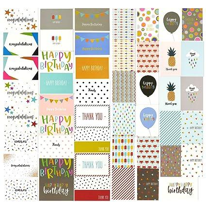 48 unidades, todo ocasión tarjetas de felicitación - incluye ...