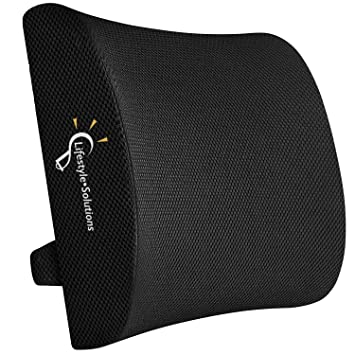 Lifestyle-Solutions Memory Foam Lumbar Support Back Cushion with 3D Mesh Cover Designed for Lower Back Pain Relief - Lumbar Pillow Ideal for ...