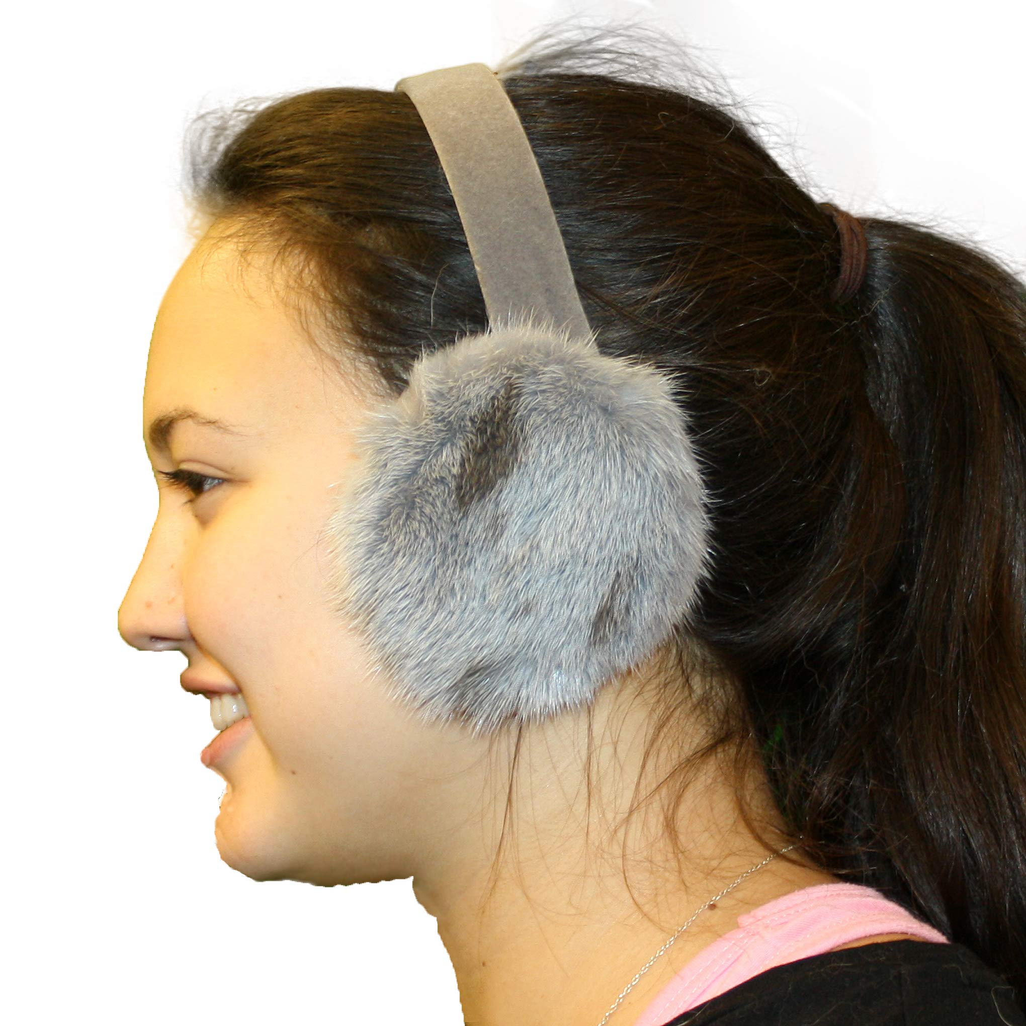 Glacier Wear Jaguar Mink Ear Muffs - Silver Dyed