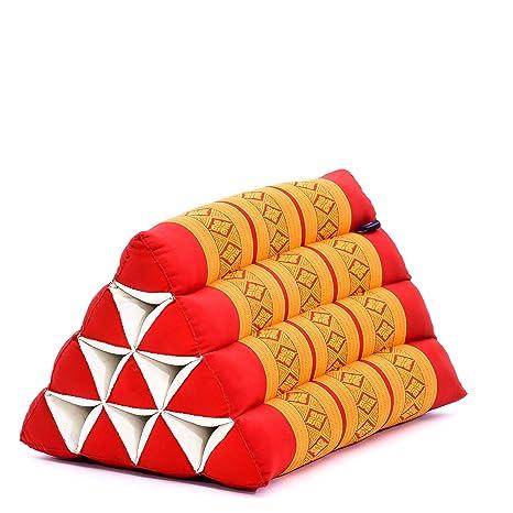 Leewadee Cojín Triangular Almohada para Lectura Respaldo Almohada De Televisión Cojín Sofá Desenfundable Orgánico Naturalmente Ecológico, 50x33x33 cm, ...