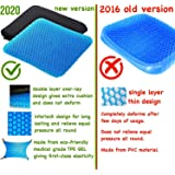Bulfyss Breathable Design, Durable, Portable Double Sided Medical Grade Gel Cushion Rubber Seat Pad, Cushion for Car, Office, Wheelchair and Chair for Back Pain Relief (16x15x1.65-inch , Blue)