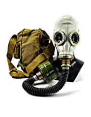 Militar Accurate reproduction of Soviet Russian gas mask kit with black rubber hose Face mask respiratory protection Replica