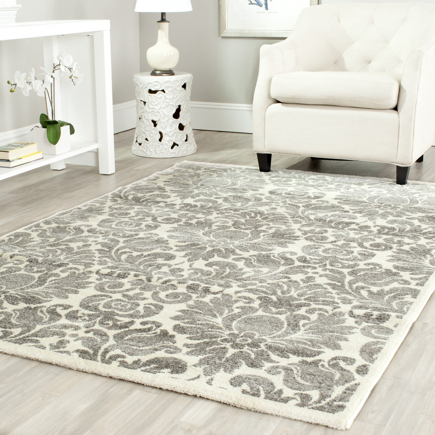 5 x 5 rug. Amazon.com: Safavieh Porcello Collection PRL3714A Grey And Ivory Area Rug (4\u0027 X 5\u00277\ 5 Amazon.com