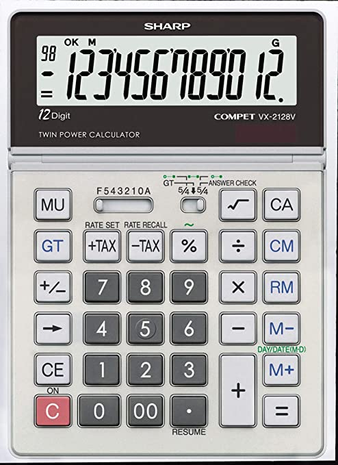 Amazon.com: Sharp vx2128 V portátil computadora Calculadora ...
