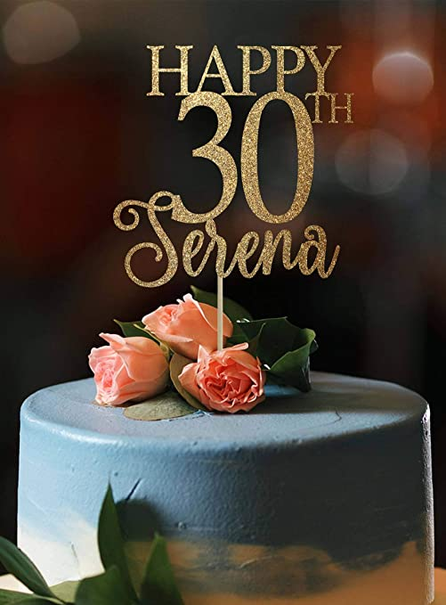 Decoración para tarta de 30 cumpleaños, 30 cumpleaños ...
