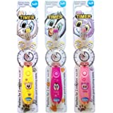 Children's Toothbrush with Flashing Timer - Pack of 3 for Girls - Club Cutie