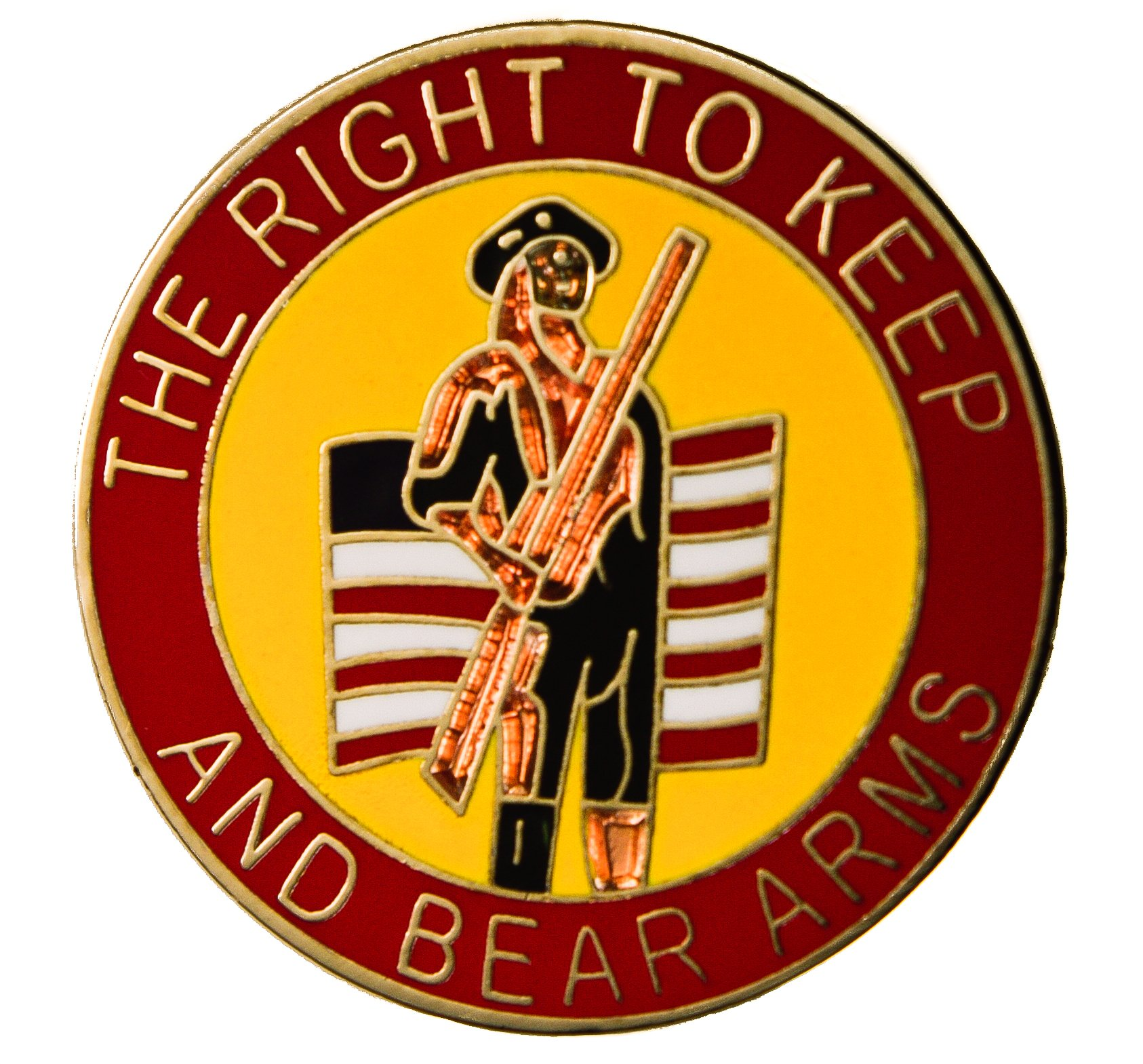 Sujak Military Items The Right to Keep and Bear Arms 2nd Amendment Hat or Lapel Pin HON14920