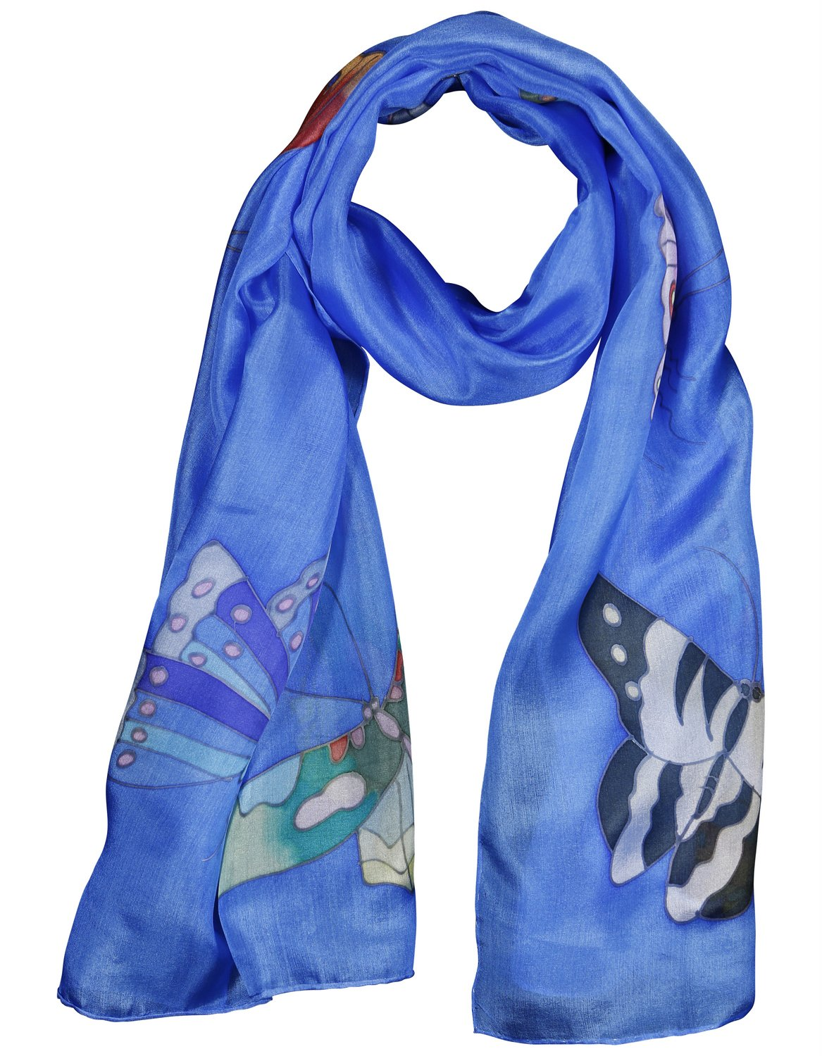 Invisible World Women's 100% Silk Scarf-Butterfly 7203080101