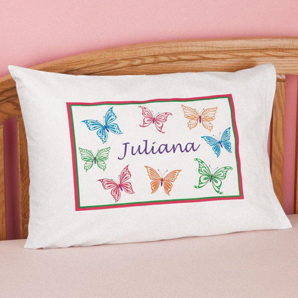 MK Personalized Butterflies Pillowcase - Great Gift