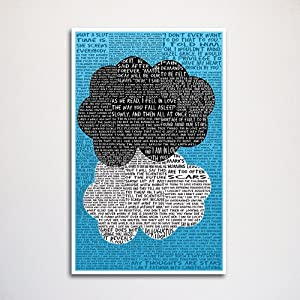 Fault in our Stars word art print -11x17