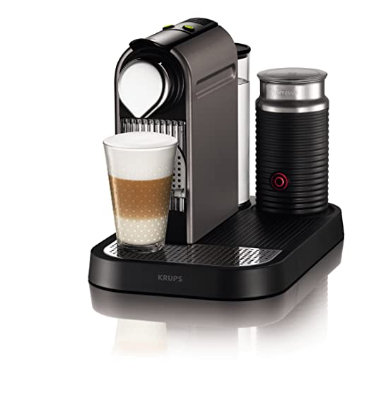 Nespresso Citiz & Milk Titan XN7101 Krups - Cafetera monodosis (19 bares, Preparación manual Cappuccino, Modo ahorro energía), Titan