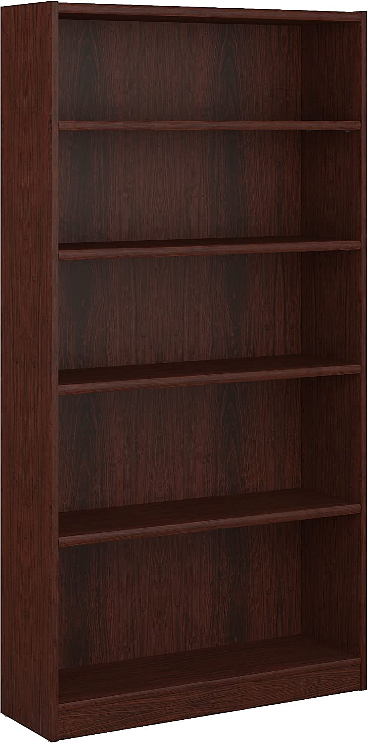 Bush Furniture Universal 5 Shelf Bookcase in Vogue Cherry