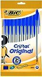 BIC Kugelschreiber Cristal Medium (10 Kulis in blau, Strichstärke 0,4 mm, Dokumentenecht)