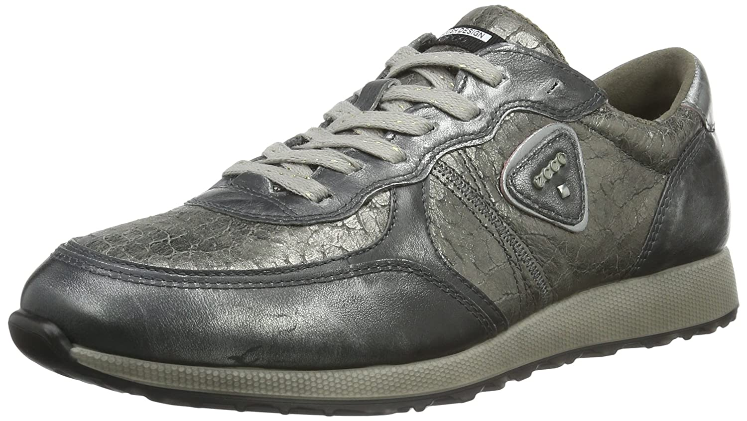 Ecco Damen Sneak Ladies Sneaker Grau (Alusilver/Warm Grey/Alusilver50149)