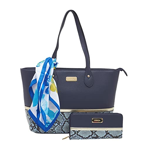 ESBEDA Blue color Python print combo tote bag with wallet   scarf for women   Amazon.in  Shoes   Handbags c32a5d1d5a