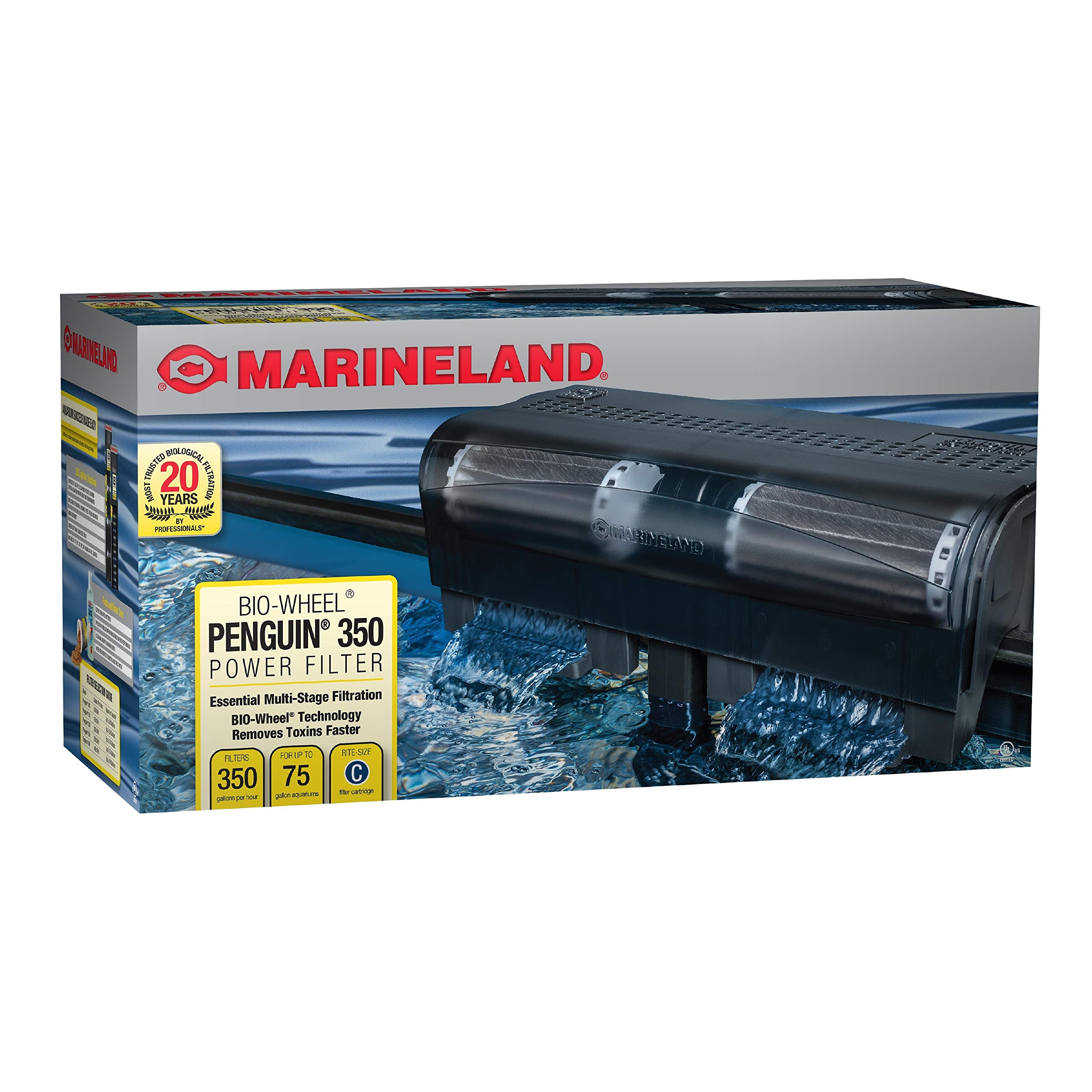 Marineland Penguin Power Filter, 50 to 70-Gallon, 350 GPH by MarineLand