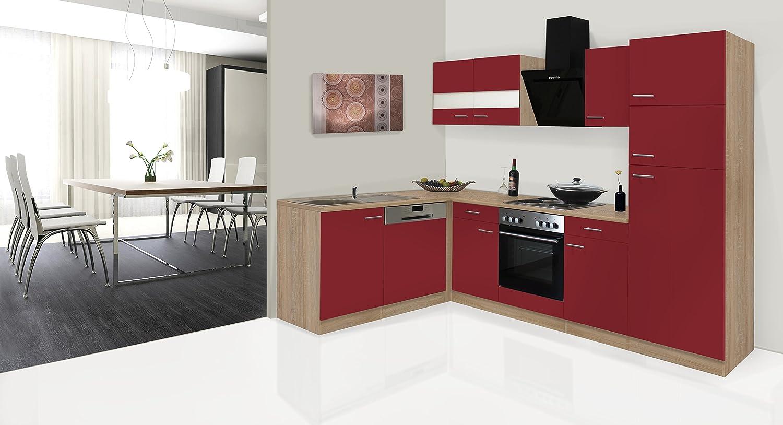 respekta Economy - Mueble para Cocina en ángulo en L Rojo ...