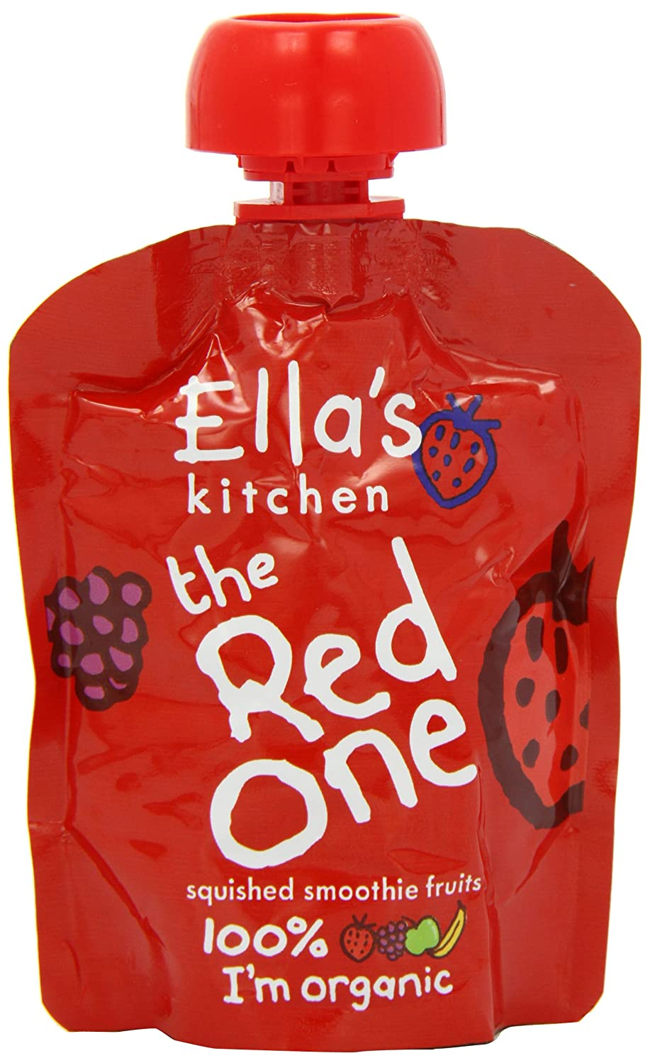 Ella's Kitchen The Red One Organic Squished Smoothie Fruits 90 g (Pack of 5) Ella's Kitchen 41751