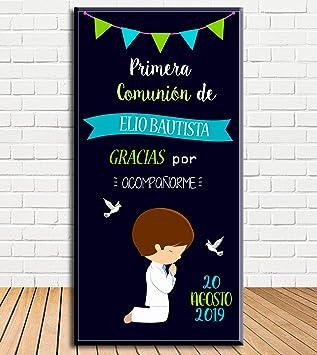 Tu Fiesta Mola Mazo Cartel de Bienvenida de Comunión ...
