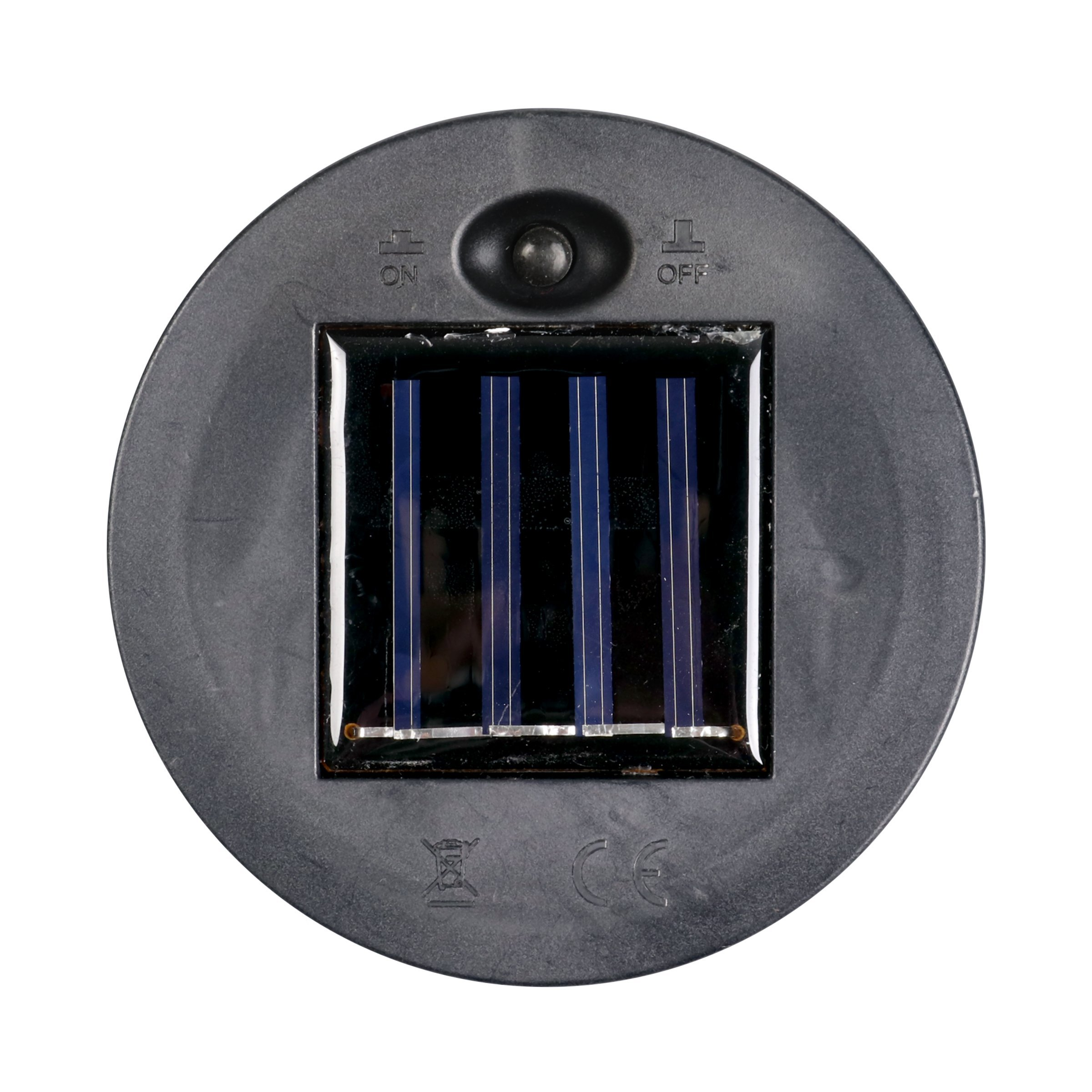 Exhart Blue Solar Lantern - Glass Tear-Shaped Hanging Lantern - Teardrop Glass Ceiling Lantern Hangs in a Metal Cage w/ 12 Blue LED Firefly Solar Lights 7'' L x 7'' W x 24'' H by Exhart (Image #4)