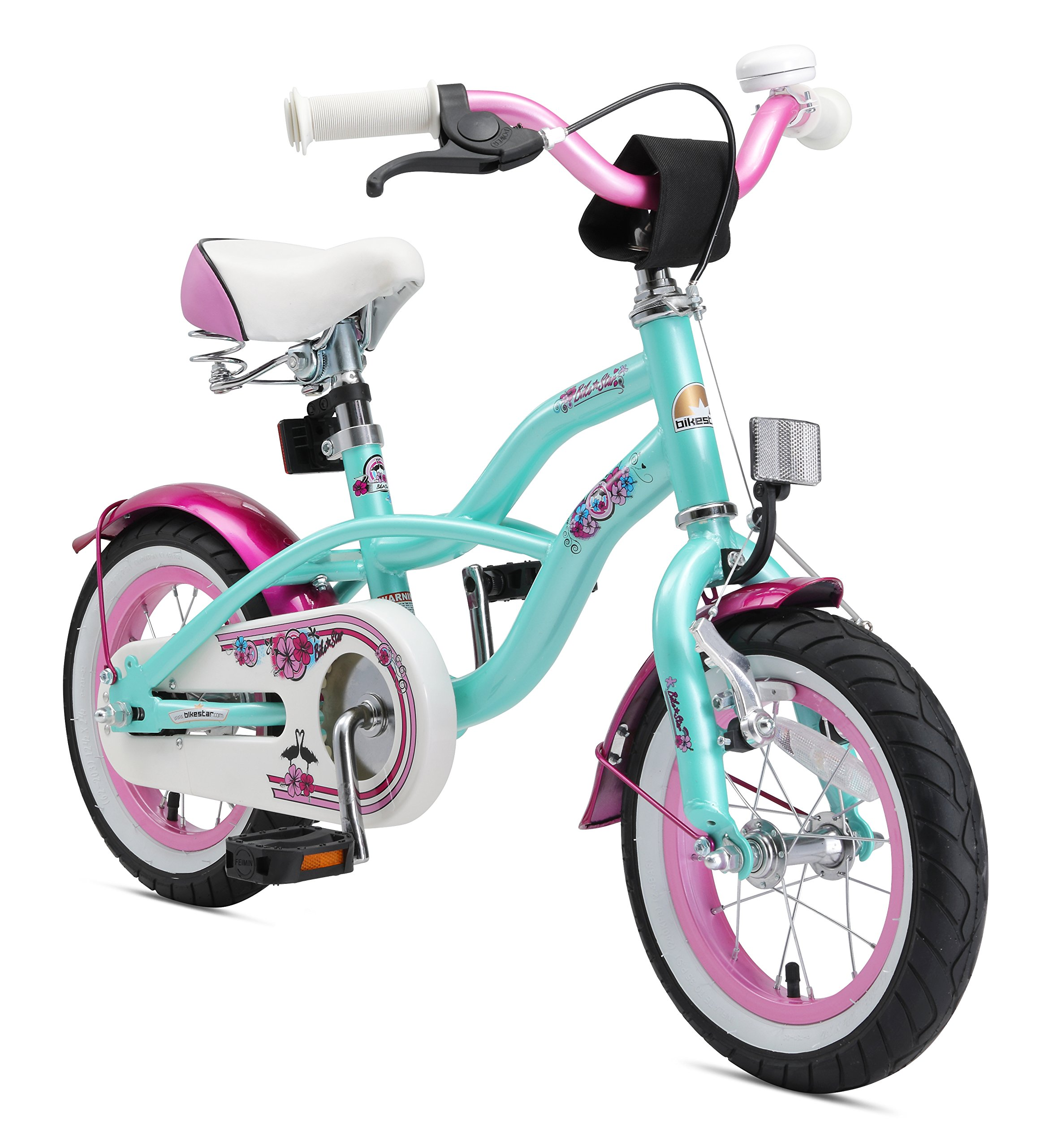 Bikestar Bicicleta para niños ☆ 12 Pulgadas ☆ Color Turquoise ☆ Frenos de Tiro Lateral y