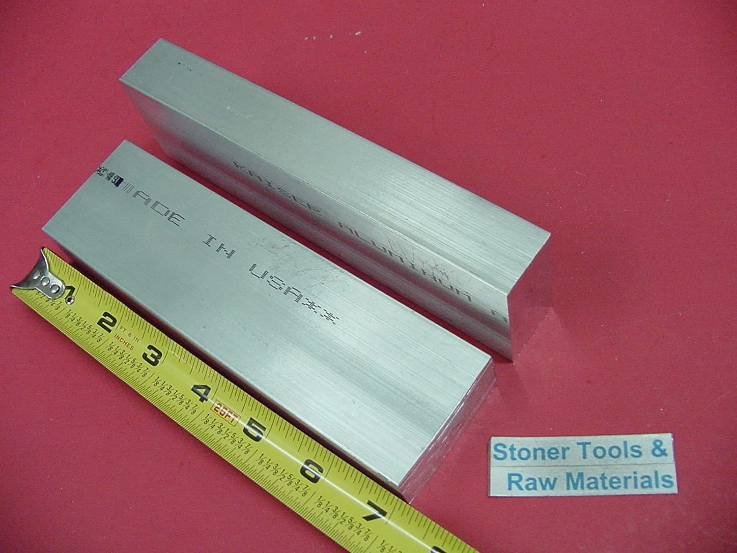2 pieces 1 X 2 ALUMINUM 6061 FLAT BAR 7 long Solid 1.00 T651 Plate Mill Stock
