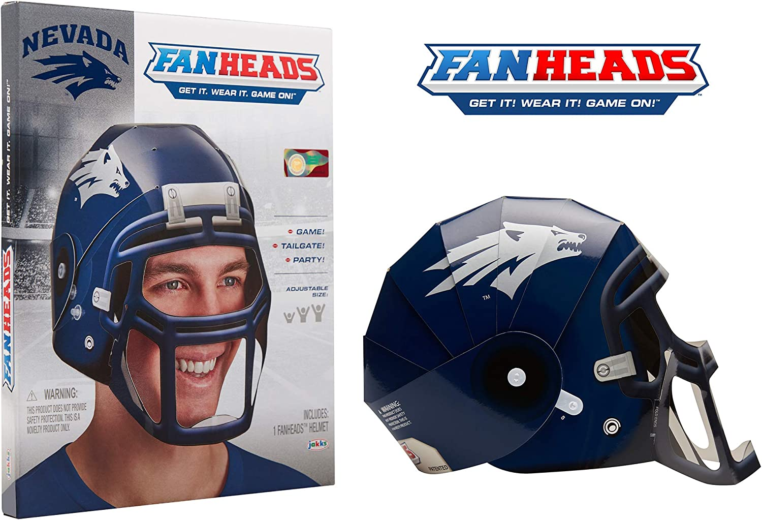One Size FanHeads Wearable College Football Helmets Students Reinforced Laminated Cardboard Adjustable Helmet All Team Options Dorm Room Decor Official NCAA Merchandise for Fans Alumni