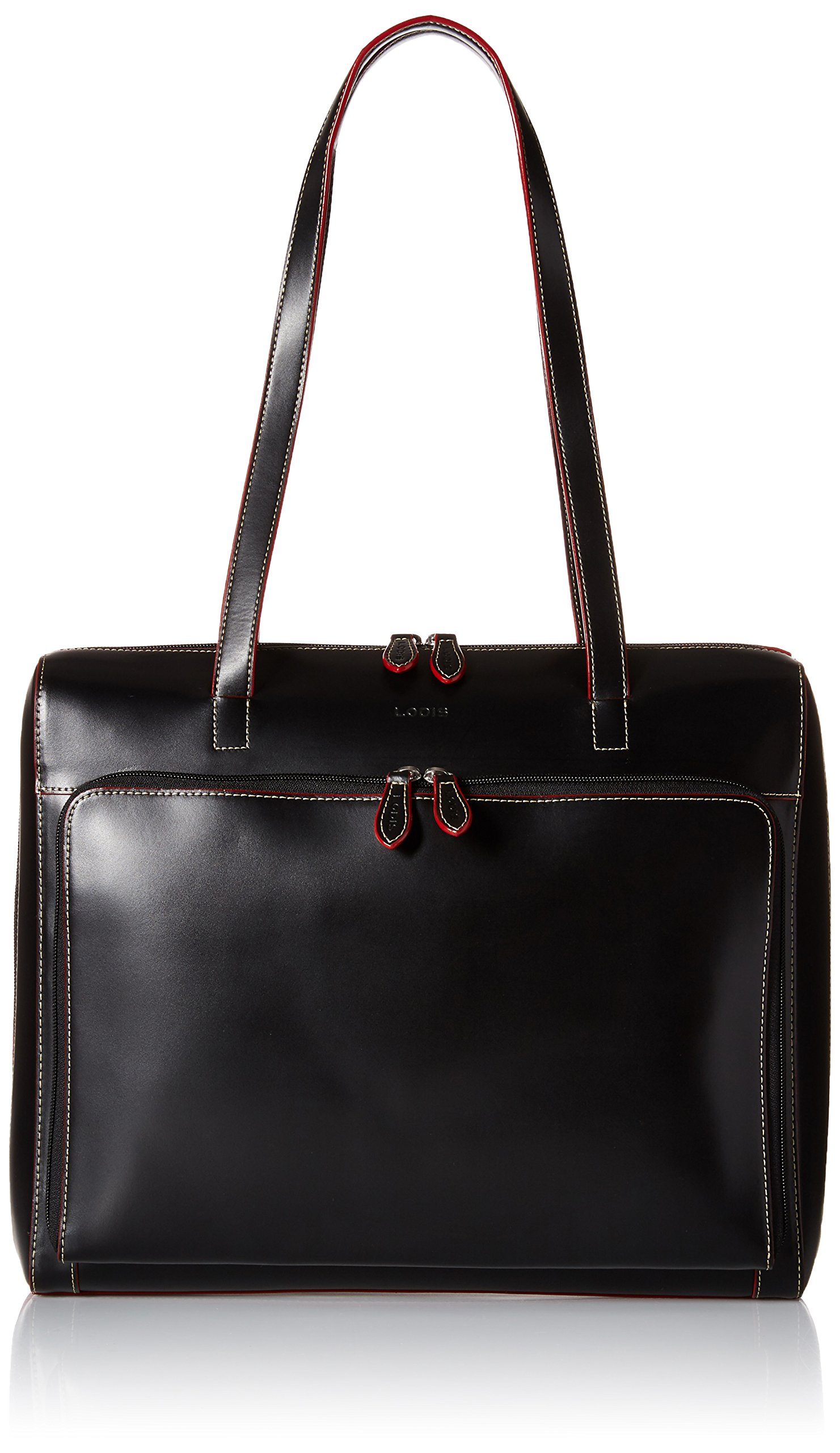 Lodis Audrey Zip Top Tote with Organization,Black,one size