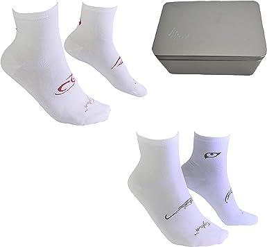 Tiglami Tattoo Gift Box – Caja con dos pares de calcetines al tobillo – Calcetines Blancos y Negros