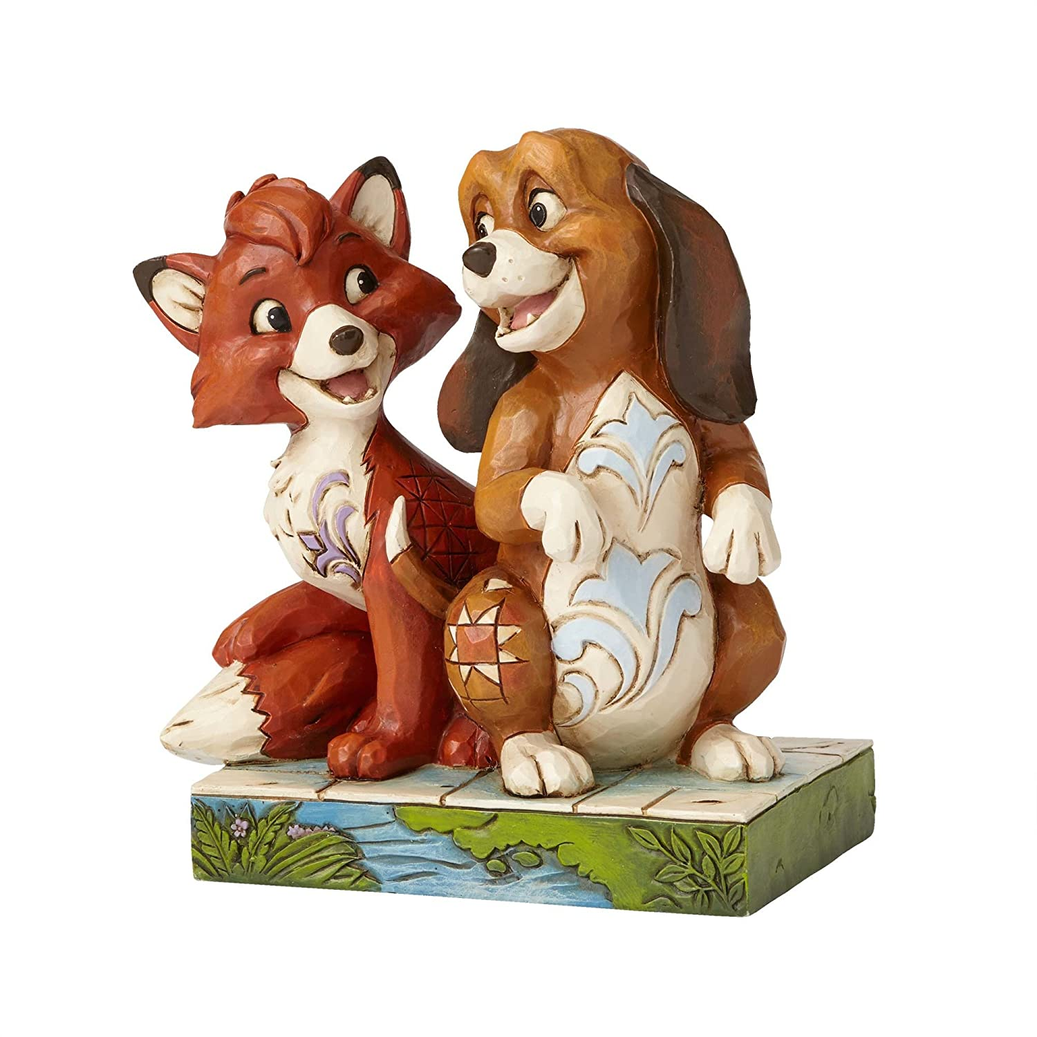 amazon com jim shore disney traditions by enesco fox and the