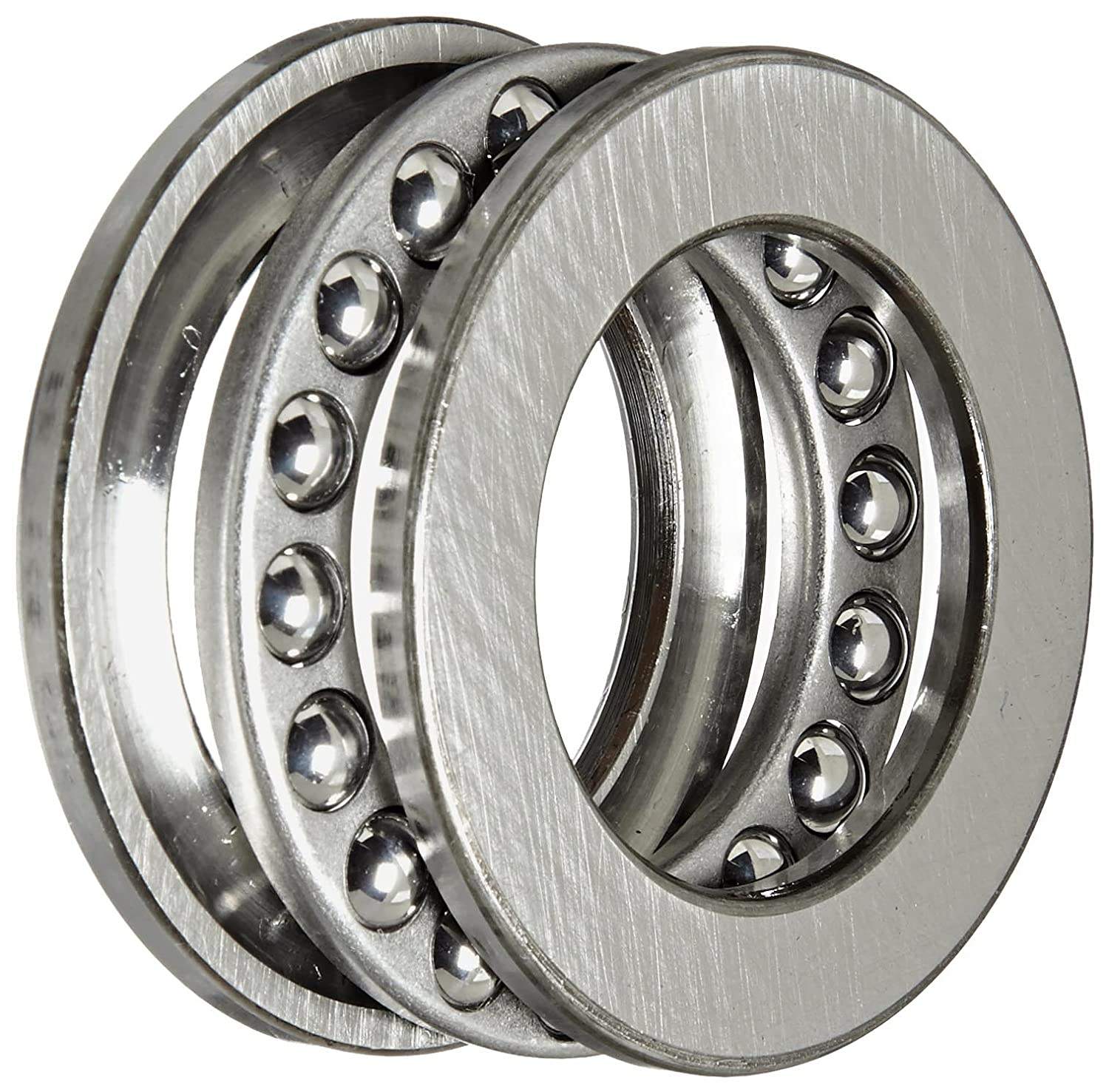 2860lbf Dynamic Load Capacity 4680lbf Static Load Capacity Steel Cage 20mm Bore 10mm Width Grooved Race ABEC 1 Precision SKF 51104 Single Direction Thrust Bearing Open 35mm OD 3 Piece 90/° Contact Angle