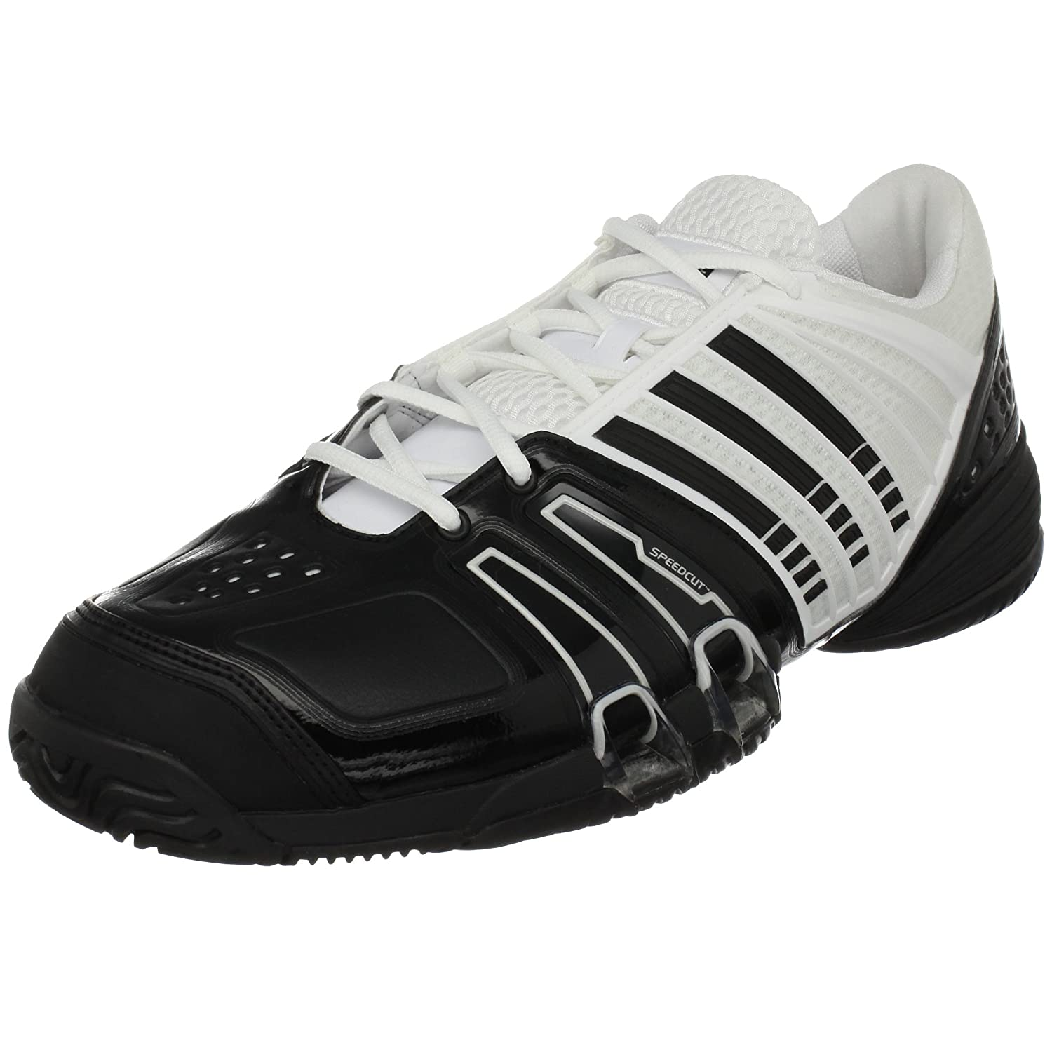 new product e14b4 1ba23 Adidas Men's Climacool Genius II Tennis Shoe, White/Black ...