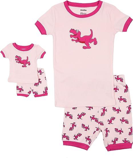 2-10 Y Leveret Reindeer Girls Matching Doll /& Kid 2 Piece Pajama 100/% Cotton
