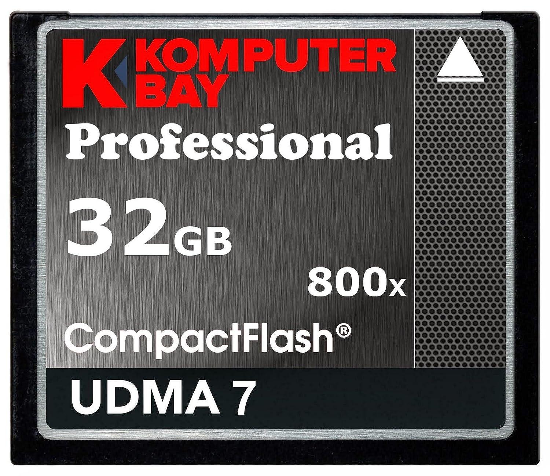 Komputerbay 32GB Professional Compact Flash tarjeta 800X CF 120MB//s velocidad extrema UDMA 7 RAW