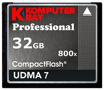 Komputerbay 32GB Professional Compact Flash tarjeta 800X CF 120MB/s velocidad extrema UDMA 7 RAW