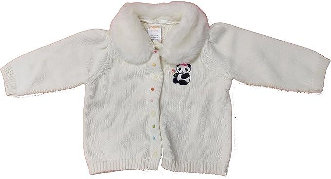 12ab92d9c Amazon.com  Gymboree Infant Baby Girl Panda Bear White Sweater ...