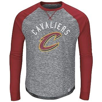 Cleveland Cavaliers NBA hombres de la Exposición Nacional heathered camisa de manga larga, Cleveland Cavaliers, Gris: Amazon.es: Deportes y aire libre