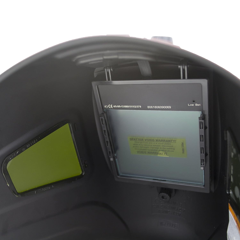 "TGR Extra Large View Auto Darkening Welding Helmet 4/""W x 3.65/""H with SIDE VIEW"