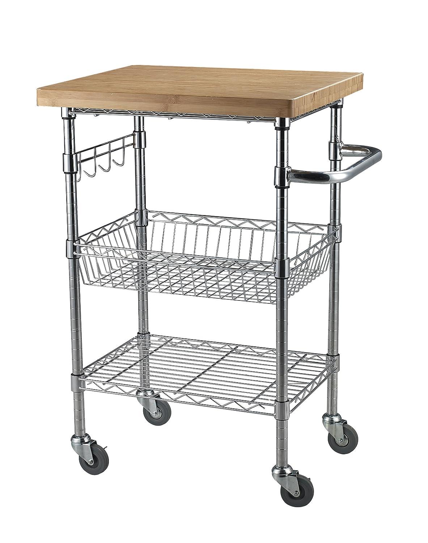 Sandusky Lee MKTBB242036 Bamboo Top Wire Cart 20 Length x 24 Width x 36 Height